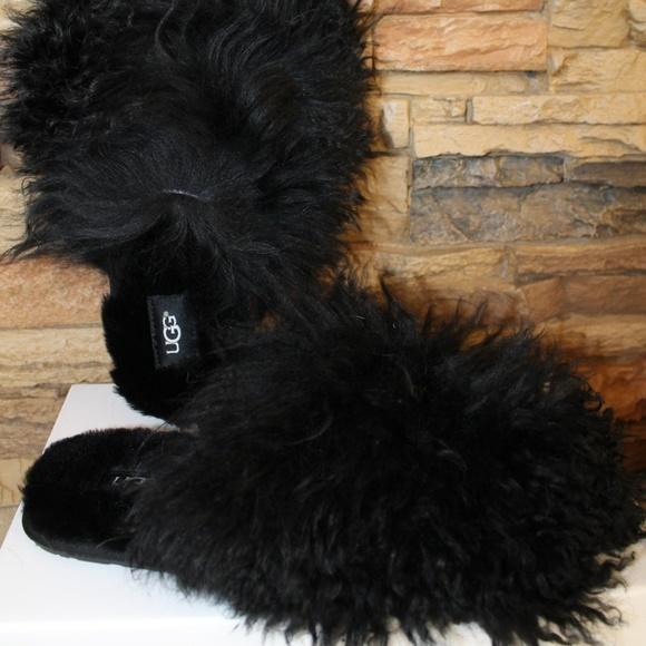 2d5ca62c2af UGG FLUFF MOMMA MONGOLIAN CLOG SLIPPERS Boutique